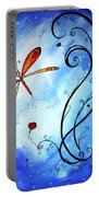 Springs Sweet Song Original Madart Painting Portable Battery Charger