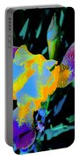 Springtime Abstract Iris Portable Battery Charger