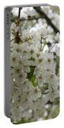 Springtime Abundance - Masses Of White Blossoms Portable Battery Charger