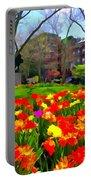 Springtime At Abingdon Square Park Portable Battery Charger