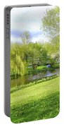 Springtime At Lazy Stream Portable Battery Charger