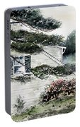 Springtime At Round Pond Maine Portable Battery Charger