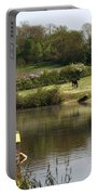 Springtime By The Canal Portable Battery Charger