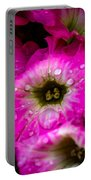 Pink Petunias Portable Battery Charger