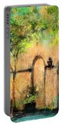 Springtime In Charleston's French Quarter Portable Battery Charger
