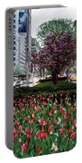 Springtime On Park Avenue Portable Battery Charger
