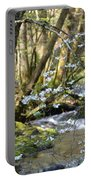 Springtime Stream In The Smokies Portable Battery Charger