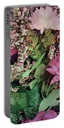 Springtime With Flowers Portable Battery Charger