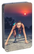 Sprinter Woman On The Start Portable Battery Charger