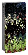 Squash Beans And Peppers Abstract Portable Battery Charger
