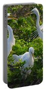 Squawk Of The Great Egret Portable Battery Charger