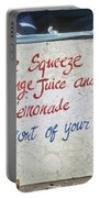 Squeezed Juice Sign Portable Battery Charger