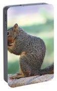 Squirrel Eating Crab Apple Portable Battery Charger