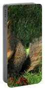 Squirrel Eating Pizza Portable Battery Charger