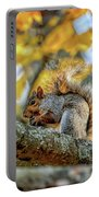 Squirrel In Autumn Portable Battery Charger