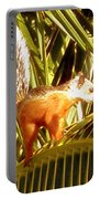 Squirrel In Palm Tree Portable Battery Charger