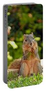 Squirrel On A Log Portable Battery Charger