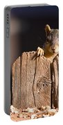 Squirrel On The Fence Portable Battery Charger