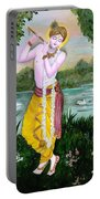 The Divine Flute Player, Sri Krishna Portable Battery Charger