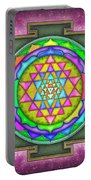 Sri Yantra - Artwork 7.5 Portable Battery Charger