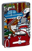 Ss Studebaker Portable Battery Charger by Rojax Art