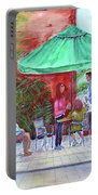 St. Armand's Circle Cafe Scene Portable Battery Charger