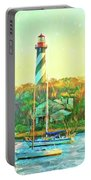 St Augustine Lighthouse Waterscaped Portable Battery Charger