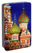 St Basils Cathedral In Moscow Russia Portable Battery Charger