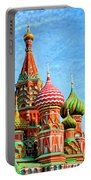 St. Basil's Cathedral Moscow Portable Battery Charger