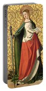 St. Catherine Of Alexandria Portable Battery Charger by Josse Lieferinxe