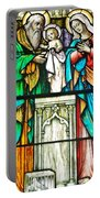 St. Edmond's Church Stained Glass Window - Rehoboth Beach Delaware Portable Battery Charger