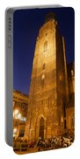 St. Elizabeth's Church Tower At Night In Wroclaw Portable Battery Charger