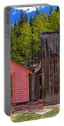St. Elmo Pink House And Barn Portable Battery Charger