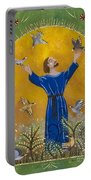 St. Francis And Birds Portable Battery Charger