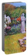 St. Francis In The Garden Portable Battery Charger