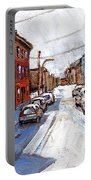 St Henri Depanneur Canadian Paintings Mini Montreal Masterpieces For Sale Petits Formats A Vendre  Portable Battery Charger