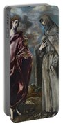 St. John The Evangelist And St. Francis Of Assisi Portable Battery Charger