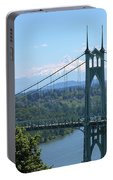 St Johns Bridge And Mount Hood Portable Battery Charger