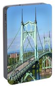 St Johns Bridge Over Willamette River Portable Battery Charger