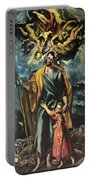 St Joseph And The Christ Child 1599 Portable Battery Charger