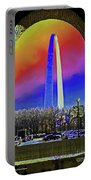St Louis Arch Rainbow Aura  Portable Battery Charger