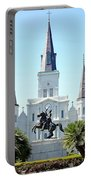 St. Louis Cathedral From Jackson Square Portable Battery Charger