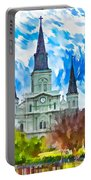 St. Louis Cathedral - Paint Portable Battery Charger