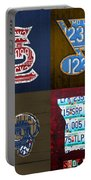 St Louis Sports Fan Recycled Vintage Missouri License Plate Art Cardinals Blues Rams Portable Battery Charger