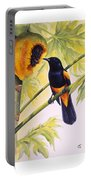 St. Lucia Oriole And Papaya Portable Battery Charger
