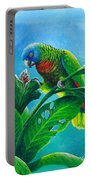 St. Lucia Parrot And Bwa Pain Marron Portable Battery Charger