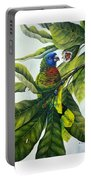 St. Lucia Parrot And Fruit Portable Battery Charger