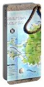 St. Martin St. Maarten Map Portable Battery Charger