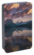 St Mary Lake At Dusk Panorama Portable Battery Charger