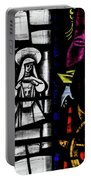St Mary Redcliffe Stained Glass Close Up C Portable Battery Charger
